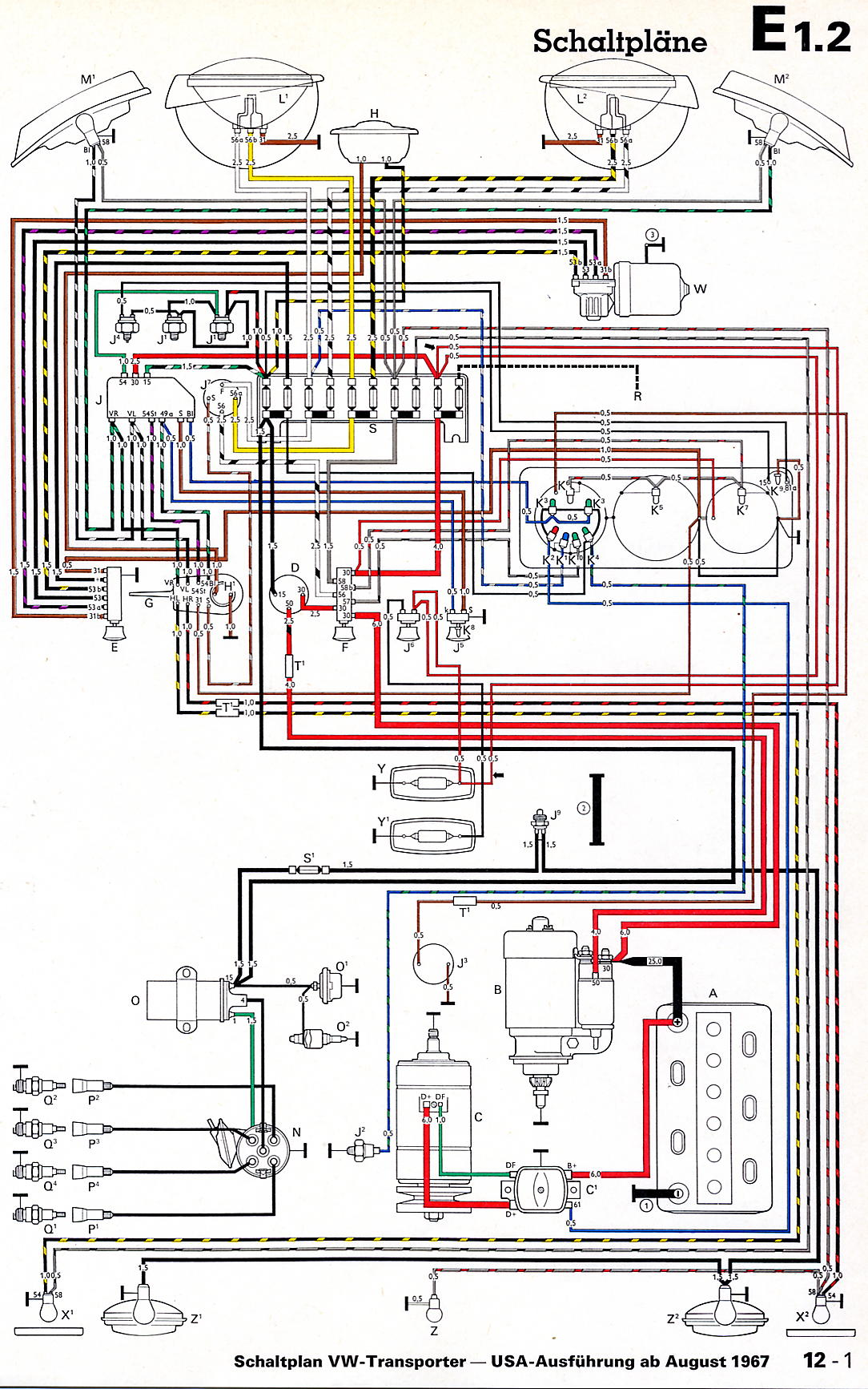 Vw Wiring Diagrams 1967 Camaro Diagram Pdf 1968 Usa