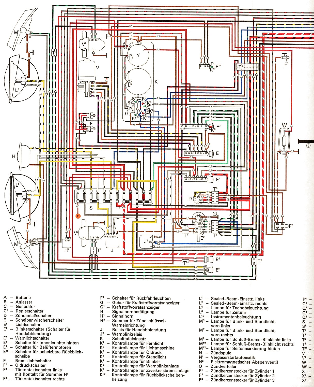 Vw Wiring Diagrams 1968 Chevrolet Chevelle Diagram