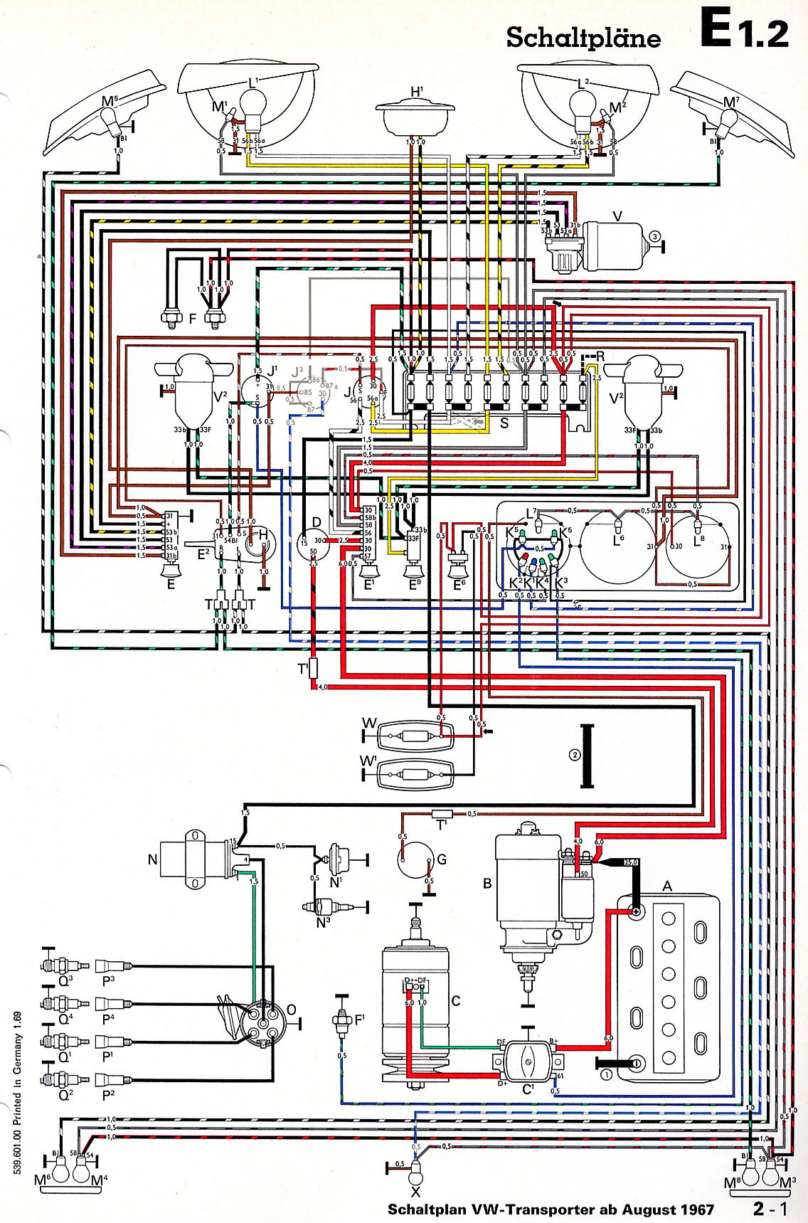Transporter_from_August_1967 vw dune buggy wiring diagram vw air cooled engine diagram \u2022 free 2010 Bad Boy Buggy Classic 48 Volt Battery Wiring Diagram at arjmand.co