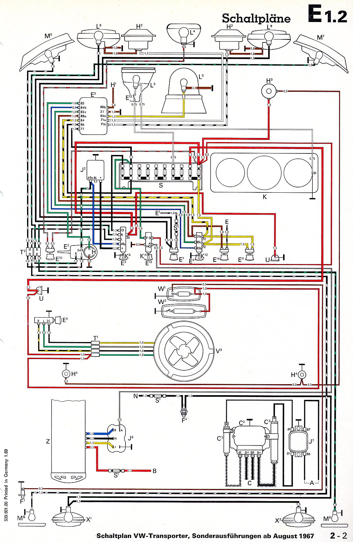 Transporter_from_August_1967_aditional_items vw wiring diagrams 69 vw wiring diagram at bayanpartner.co