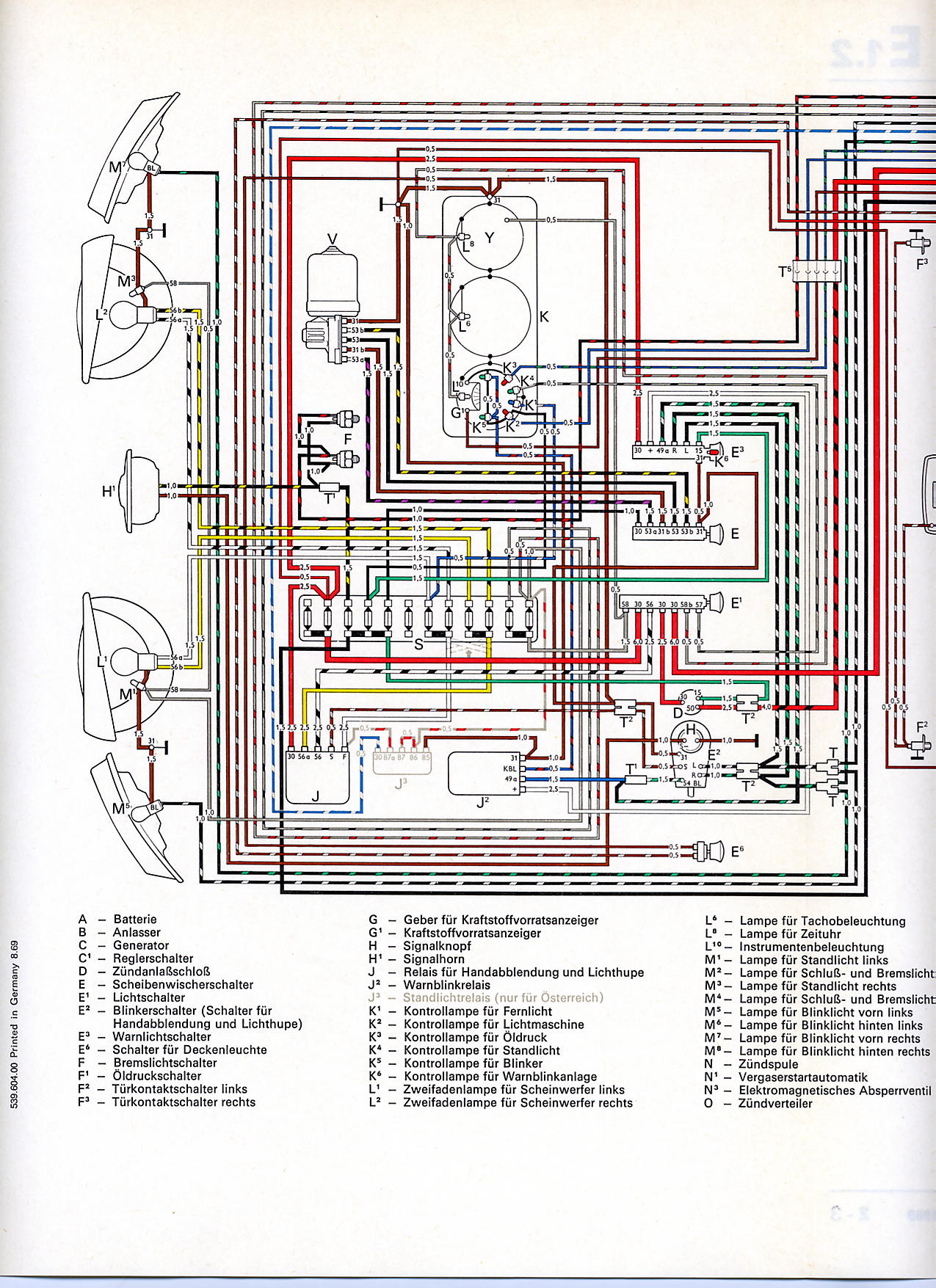 vw wiring diagrams rh volkspower nl 1964 VW Headlight Switch Wiring 72 VW  Wiring Diagram