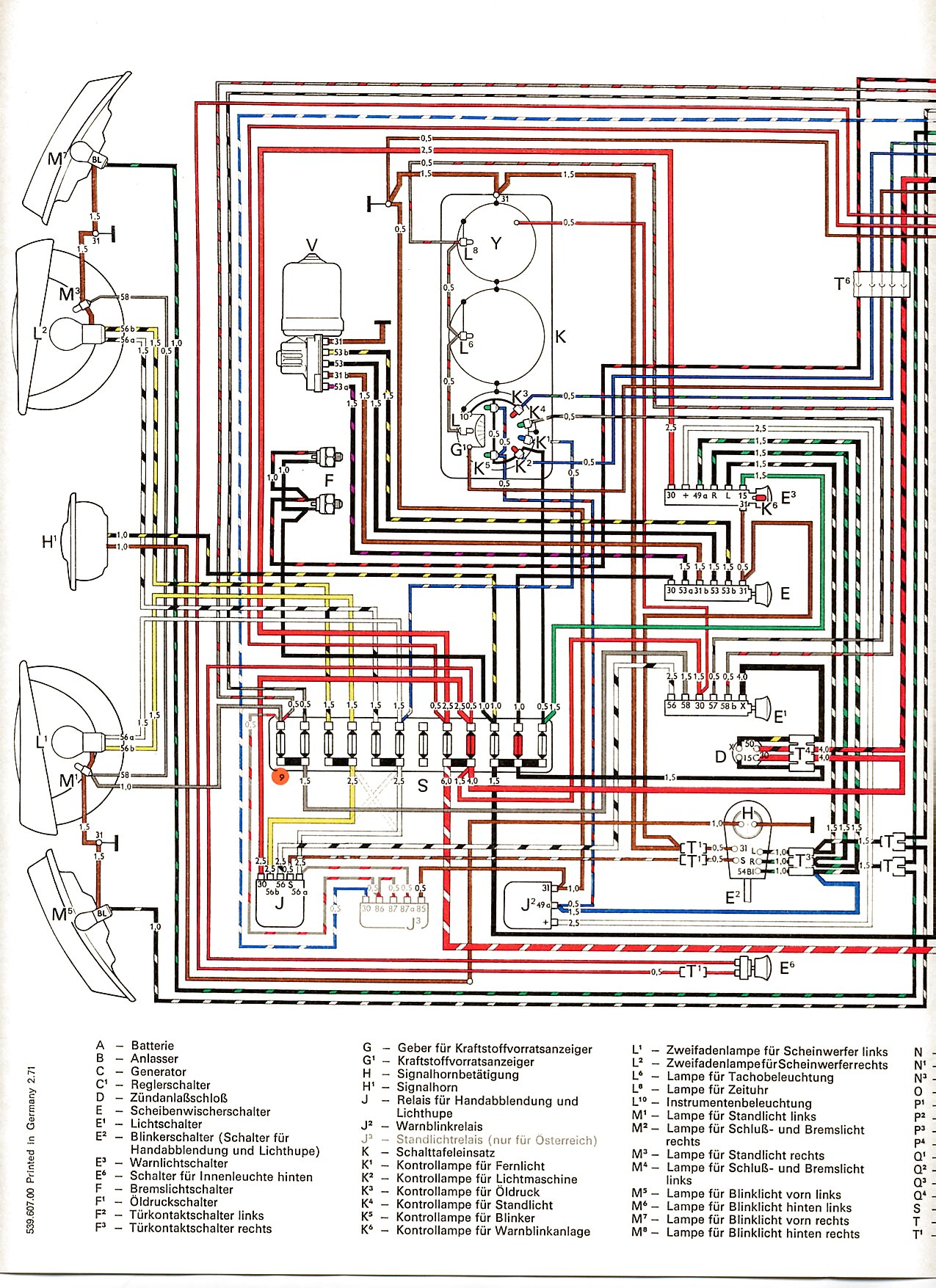 Transporter_from_August_1970 1 vw wiring diagrams 1970 vw bug wiring diagram at crackthecode.co