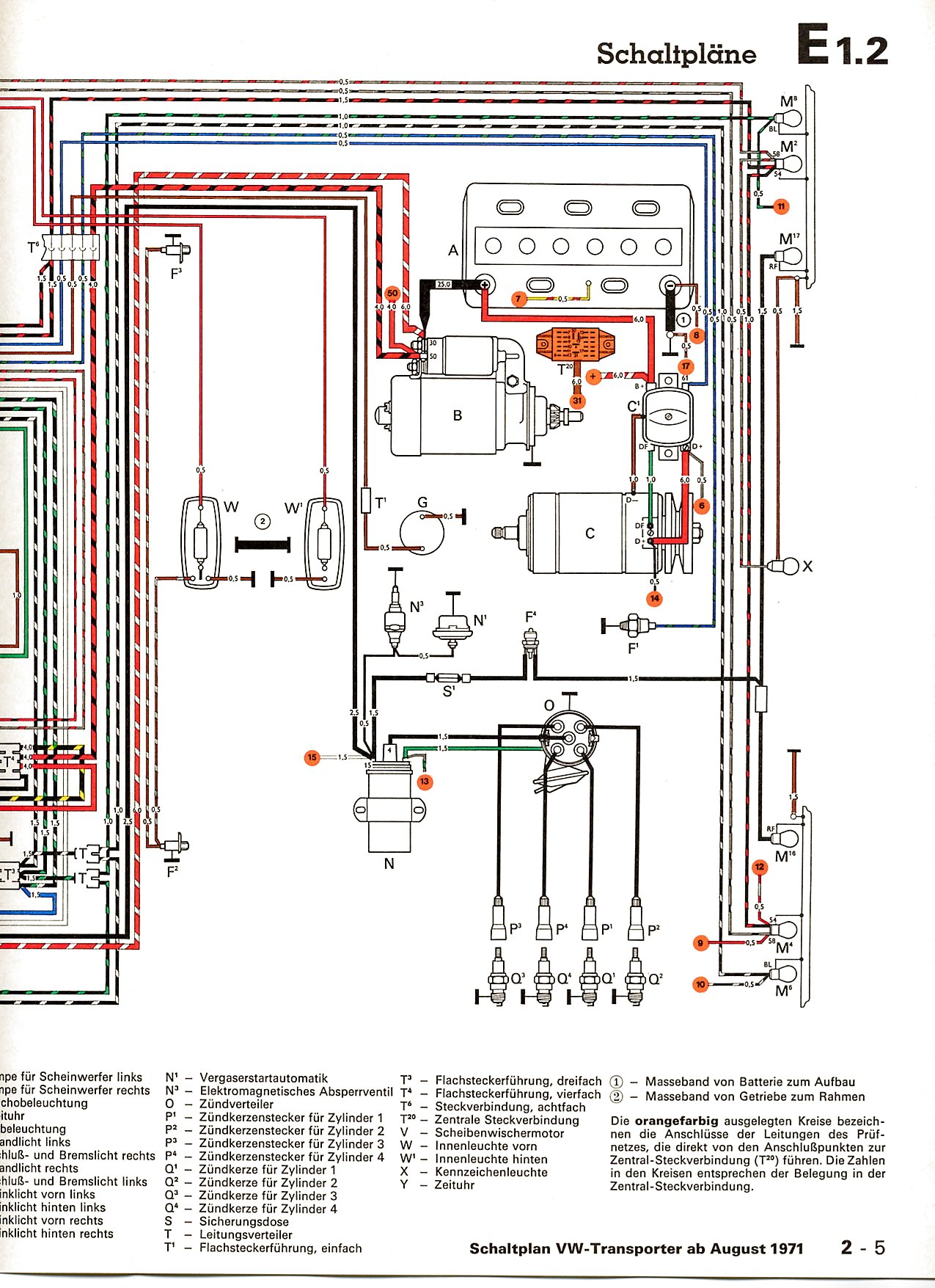 vw wiring diagrams rh volkspower nl 72 VW Wiring Diagram VW Voltage  Regulator Wiring