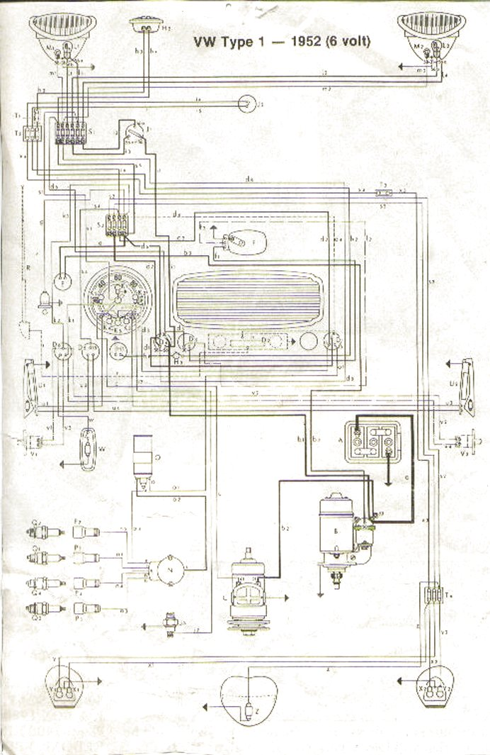 bug 52 vw wiring diagrams 1970 vw bug wiring diagram at crackthecode.co