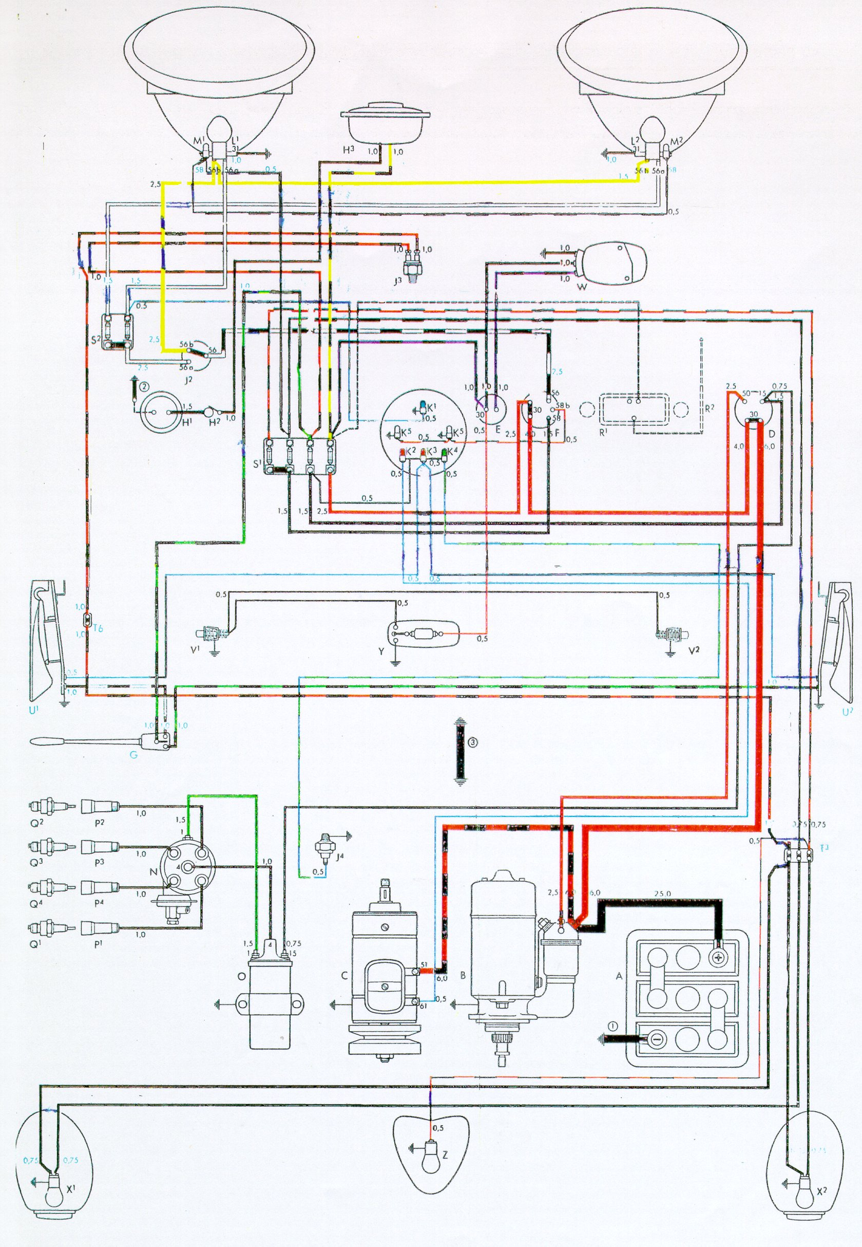 bug 54 vw wiring diagrams 1971 vw beetle wiring diagram at panicattacktreatment.co