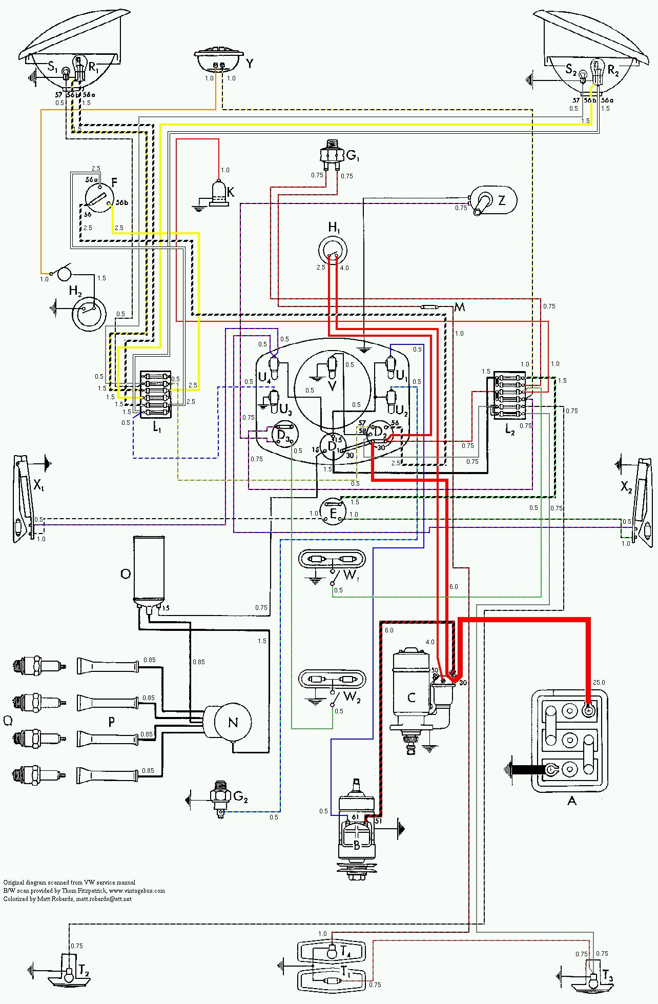 vw wiring diagrams rh volkspower nl  1959 vw bug wiring diagram
