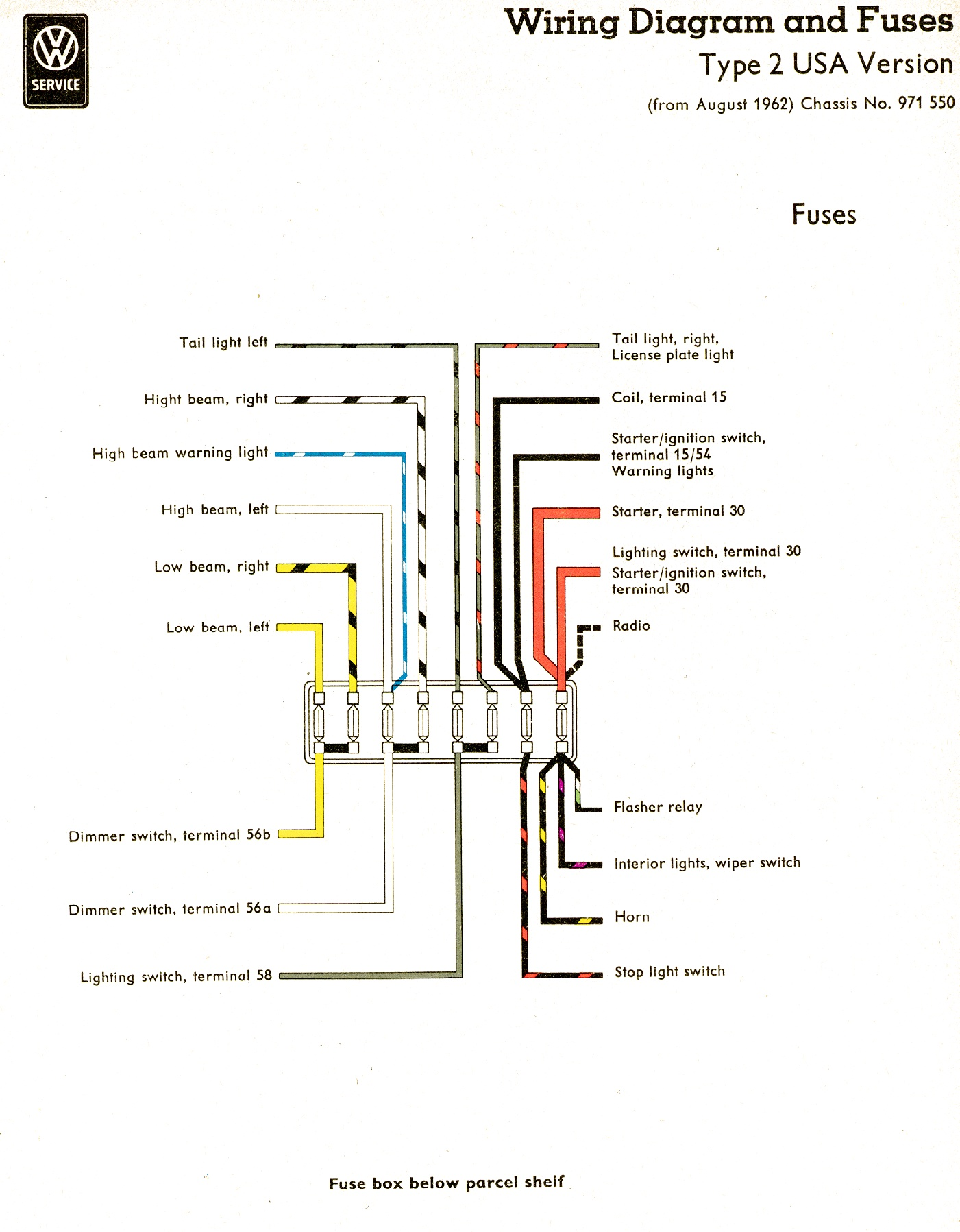 1962 Beetle Fuse Box Wiring Library 62 Nova Diagram Vw Diagrams 1965