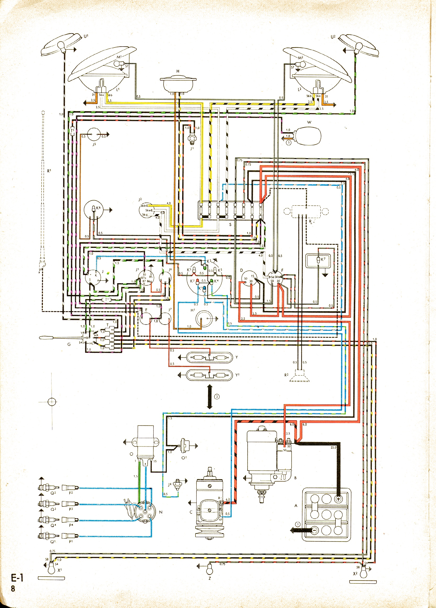 Vw Engine Wiring Diagram Schemes Transporter T4 1500 Detailed Schematics Rh Antonartgallery Com 1600
