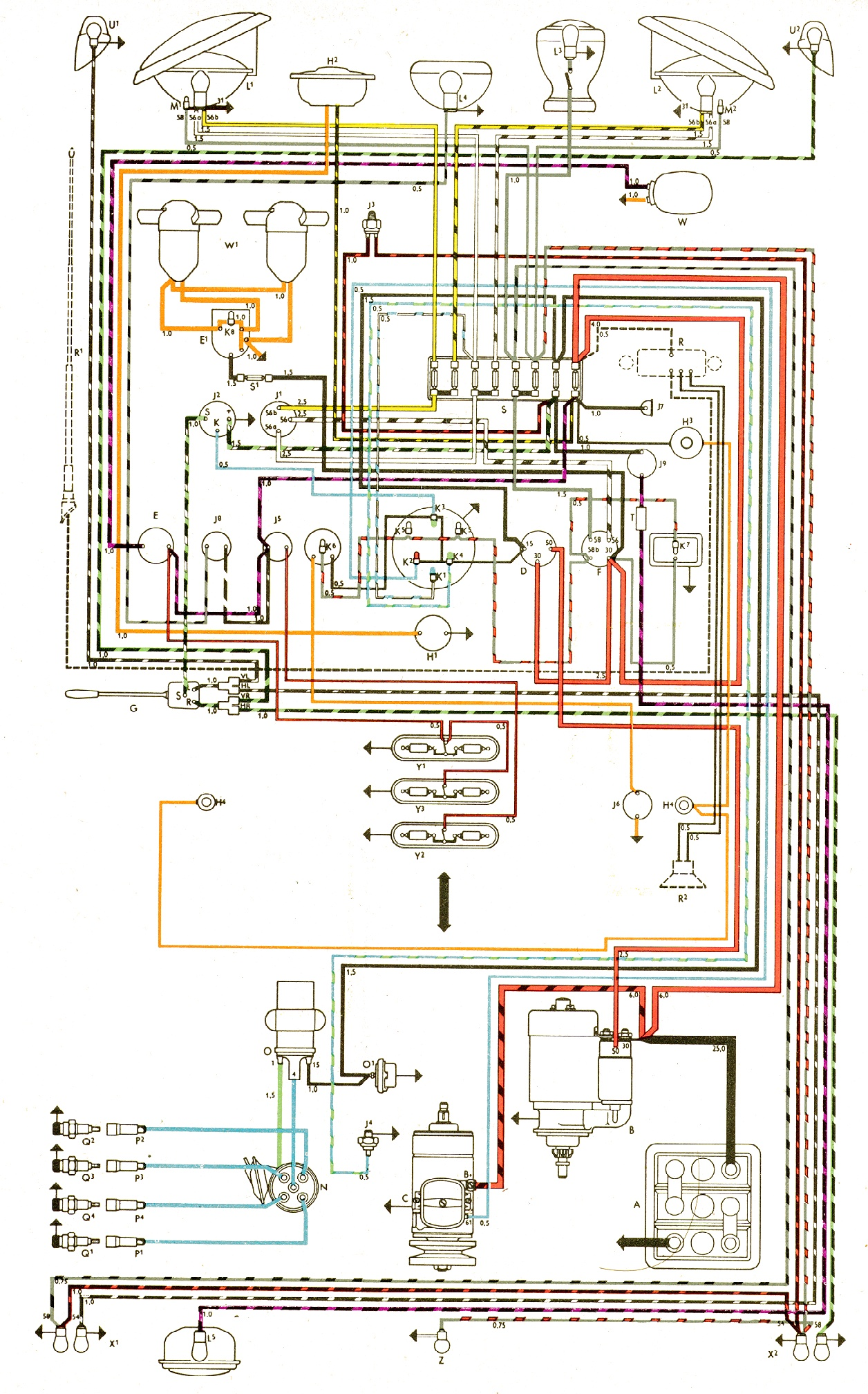 Vw Wiring Diagrams 1993 Super Beetle Diagram