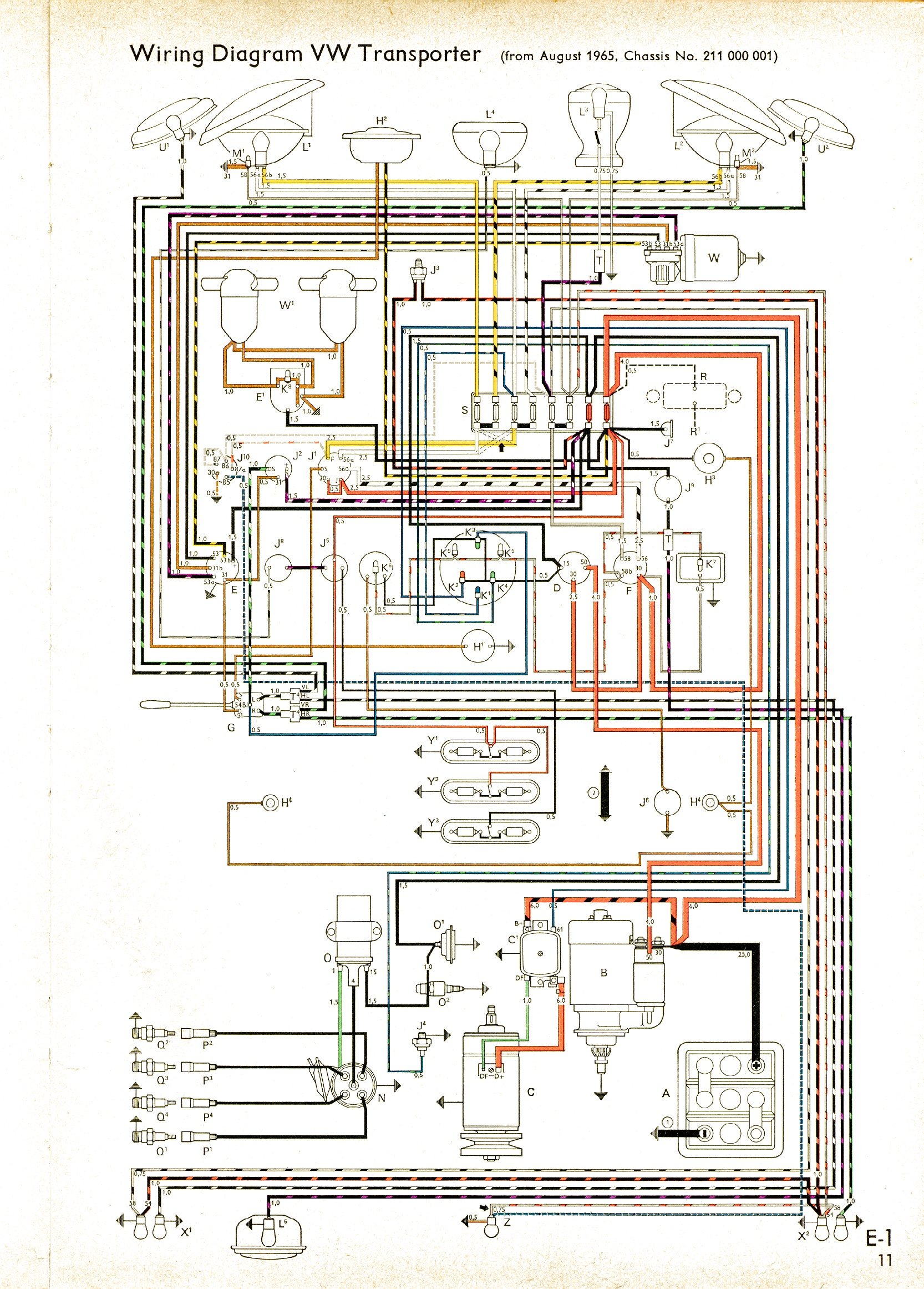 bus 65 vw wiring diagrams 1970 vw wiring diagram at mifinder.co