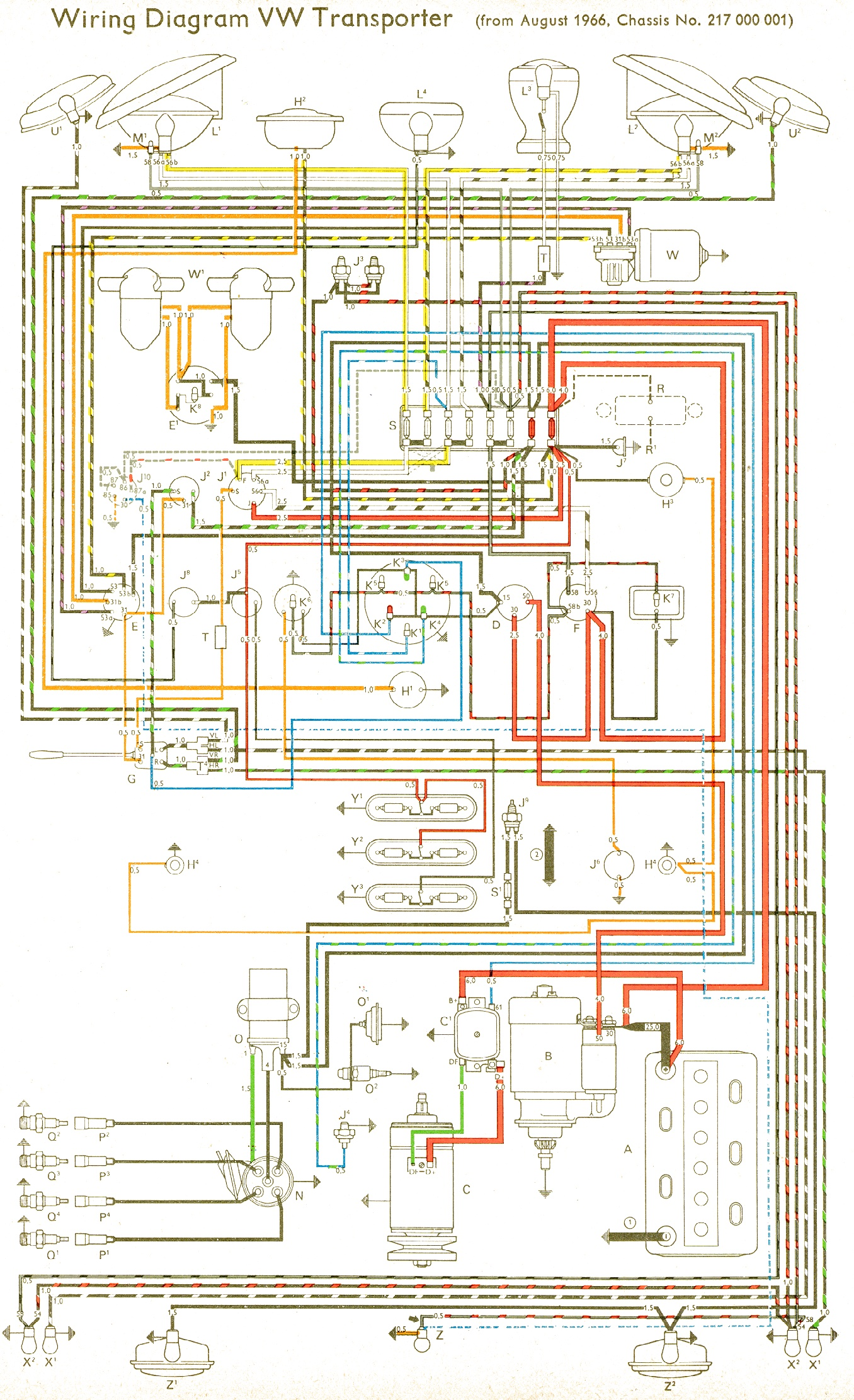 vw wiring diagrams rh volkspower nl 1974 VW Beetle Wiring Diagram 1976 vw  bus wiring diagram