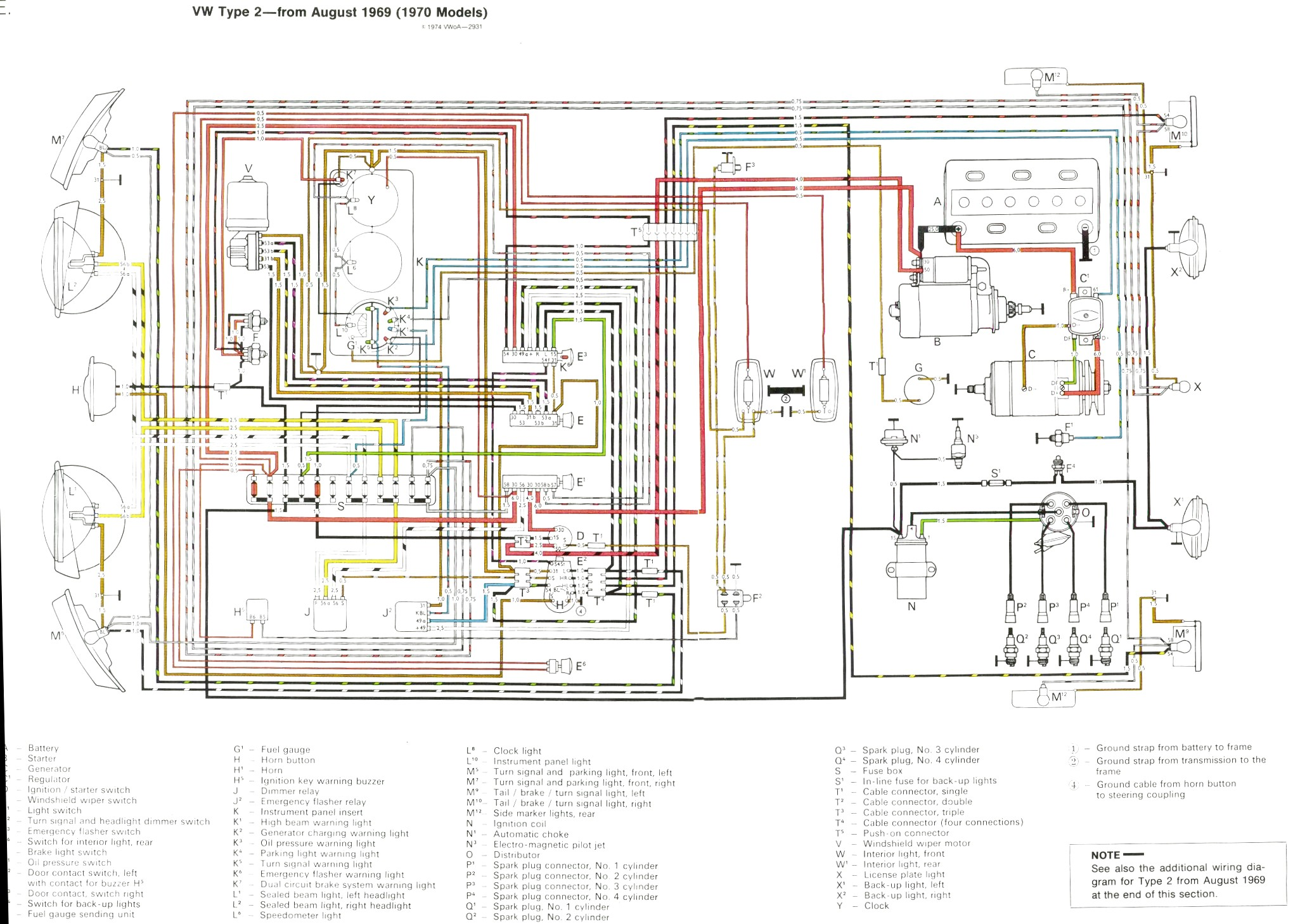 1970 08 Vw T2 Wiring Diagram Schematics Diagrams 72 Beetle Wire 1973 Transporter Engine U2022 Rh Parntesis Co 1967