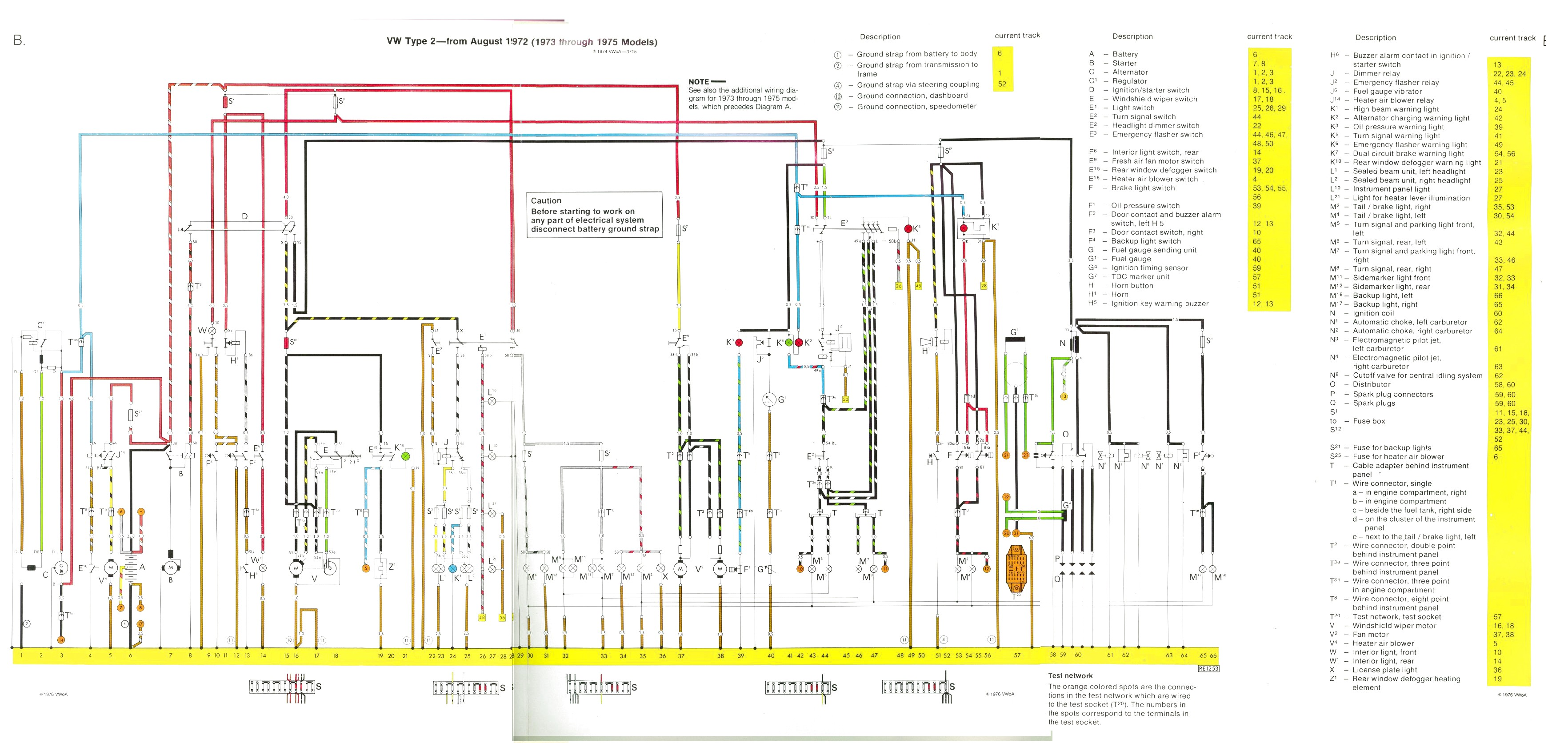 bus 73 75 74 super beetle wiring diagram 74 vw super beetle wiring diagram 1964 VW Beetle Wiring Diagram at creativeand.co